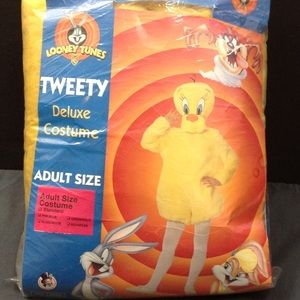 Looney Toons Tweety Bird Costume Adult Size NWT